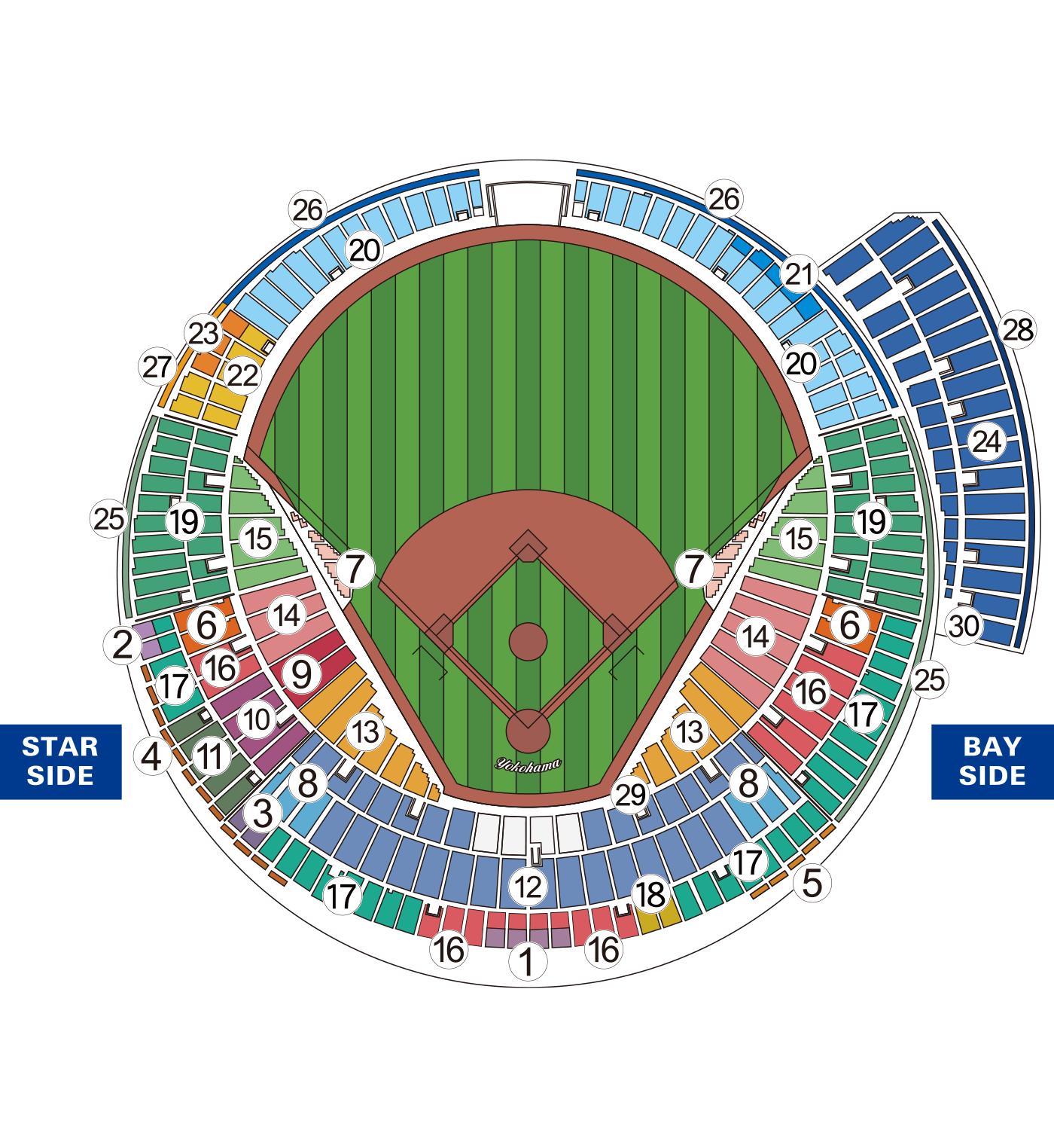 公式戦座席図 H
